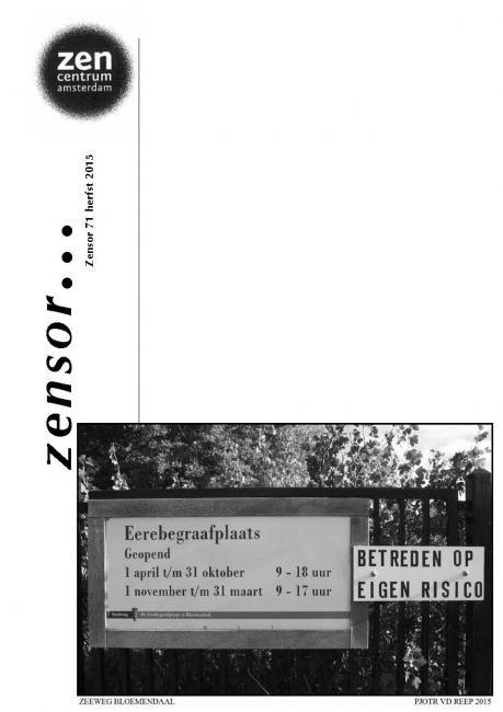 Zensor 71 - herfst 2015